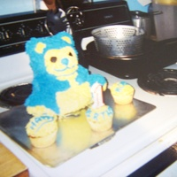 My Very First Cake To Make  I did not do this for a cake class but it was the first cake I ever done. It was for my youngest sons 1st birthday and everybody thought it...
