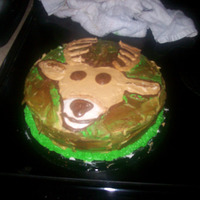 "My First Camoflauge Cake  I made this cake for my Father-in-law after my husband says ""Your the cake baker and we need a cake for dad by tomorrow..."" Ok..."