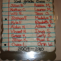End Of Year 2Nd Grade Cupcake Cake This cupcake cake was made for my son's end of the year 2nd grade class party.