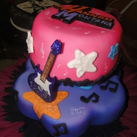 Hannah Montana Fondant. Airbrushed. Guitar made with gum Paste.