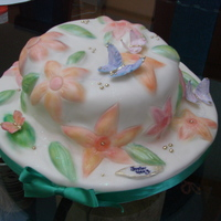Butterfly Garden All fondant. Painted with non-toxic chalks. Butterflies are made of gum paste.