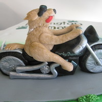 Dog On A Motorcycle This dog was for a cake for a charity motorcycle ride, benefiting a humane society.