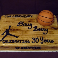 Basketball Birthday Cake  Made for a friend's 30th...he LOVES basketball! Thank you to M1107M for the inspiration on this cake. Basketball made of mini sports...