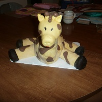 Giraffe  My daughter's 2nd birthday cake...had very little time to spend on it (about five hours start to finish), but I made it work. She...