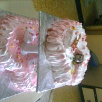 4 My Girl Friend 2 tier cake ,heart shaped for his girlfriend