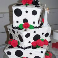 Climbing Mountains Together This topsy turvy sensation was for a wedding where the theme was obviously polka dots. The roses are fondant with fondant leaves. The whole...