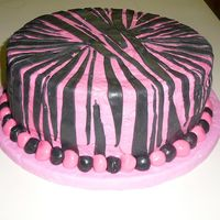 1St Zebra Cake  This was my first time using the WASC recipe (awesome!!!) and the rolled buttercream fondant. I had a hard time with the pink fondant...