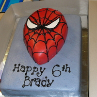 Spiderman This was for one of my boys. I was actually happy with how this one turned out. Wasc and choc cake. MMF was much easier this time around!