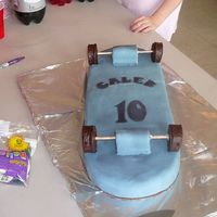 Caleb's Skateboard This was my first time making MMF. I kept thinking how easy it would be to just stop trying and just buy a cake but my son wanted a...