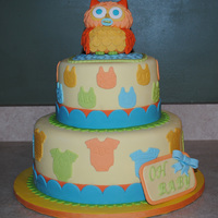 Owl Baby Shower Cake I made this cake for my cousin who loves owls. She also does not know the gender of her baby so I chose the color to be neutral. Thanks to...