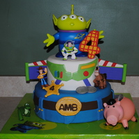 Toy Story Birthday Cake I made this cake for our neighbor's son's 4th Birthday. Characters are all toy's.