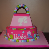 Barbie Purse Birthday Cake I made this cake for my daughters 4th Birthday to match the Barbie party pattern