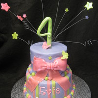 Evie's Pink, Purple And Green Girly Cake.