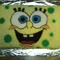 Spongebob buttercream, used piping gel to transfer sketch