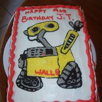 Wall.e whipped cream, so hard to make it look neat, but nothing else will taste as good on a tres leches cake.