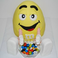 Peanut M&m Cake For my Dad's birthday and father's Day. He loves peanut M&Ms. Thanks for all the inspiration from cakes on here.