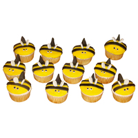 Bee Cupcakes This went with the bee hive cake i made for teacher appreciation week.