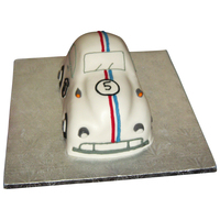 Herbie Car 3-D Cake I made this for my sons 5th birthday...he was crazy about Herbie at the timefacebook.com/katherinescakes