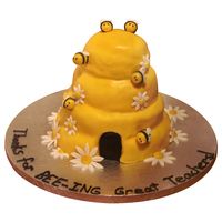 Bumble Bee Hive Cake My husband is a teacher and I made the teachers at his school this cake for Teacher Appreciation Week.