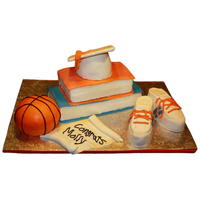Graduation / Basketball / Track Shoes Cake I made this for my little sister who graduated from high school, she was also on the track and basketball team so I decided to add in...