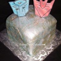 "Transformers Allspark Cake This cake is made for my son. It is 8""x8""x8"" and covered with fondant. The designs were made with various gumpaste tools and..."