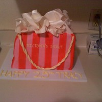 Victoria's Secret Bag This is my first bag cake, I loved the out come.