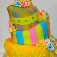 My Course 3 Finale For our course 3 finale of Wilon Cake decorating we needed a teired cake. I loved the look of topsy-turvy cakes, and I asked my teacher if...
