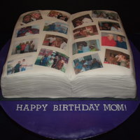Photo Album This cake was made for my mother-in-law's birthday. We wanted something with edible images for her so this is what I came up with. It...