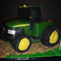 John Deere Tractor  This cake was made for my husband's best friend's birthday. He works for John Deere so he was blown away. This was my first 3D...