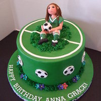 Anna Grace - Soccer Girl This cake was made for a girl turning 11 and loves soccer. This was my first figure with Lorraine McKay's tutorials. I love love love...
