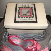 "Faffi ""designer"" Shoes This cake was for a young lady named Stephanie, who was turning 15, as a gift from her father. When she was little her nickname was ""..."