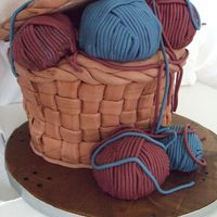 Knitting Basket  This was a cake I made for my mom. It's all edible except the lid and knitting needles. Other than the leaning I was pretty pleased...