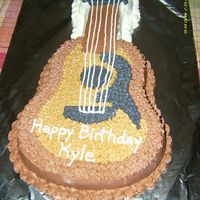 Guitar Cake   I made this cake for my son's 18th birthday using all buttercream icing.