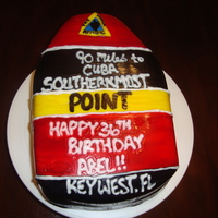 Southernmost Point Of Key West Cake 12in carved cake into the buoy in Key West Florida. It is very famous in Key West lots of people travel from around the world to take a...
