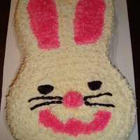 Easter Bunny Cake   Wilton bunny pan. Covered in buttercream