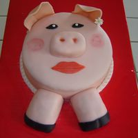 Pig Cake My dad asked me to make my sister a cake and mom thought it would be fun if I made a pig. I had so much fun making this cake and my sister...