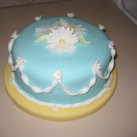 Spring Cake All fondant. Used wilton daisy cutters.