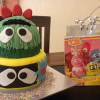 Yo Gabba Gabba Birthday Cake Two tier cake of Yo Gabba Gabba's characters. I have never seen the show on telly!
