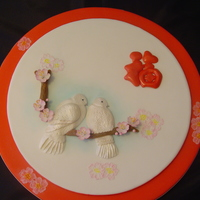 Fortune Chinese New Year Cake Icing Plaque to feature bas relief. This was made for a competition! The red character is a Chinese word means Fortune!