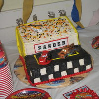 Disney Cars  not some of my better work. this was for my son's 2nd bday which was a combined party with the welcome baby shower for my newborn....