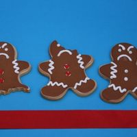 Angry Gingerbread Men Butter cookies with royal icing