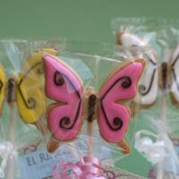 Butterflies On A Stick Butterflies on a stick...well the stick is not on the cookie, but at the back of the bag with cello tape,,,,,,,They are now for sale at a...