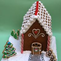 Gingerbread House Gingerbread cookie house.