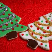 Christmas Trees Sugar Cookie with Royal Icing