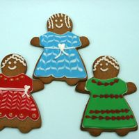 Gingerbread Girls Gingerbread cookies with royal icing
