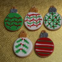 Christmas Ornaments Sugar Cookies with royal icing