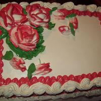 Two Tone Roses Yellow cake with butter cream