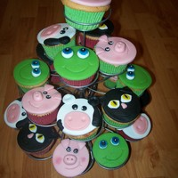 Farm Cupcakes   Made these as treast for school.