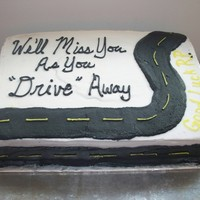 Leaving The Company This cake was for my boss who was leaving our company to go to work for a company named Drive