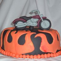 Harley Cake Gotta add a shout out to Erin31 for her flame template! Saved me a lot of time and trouble!